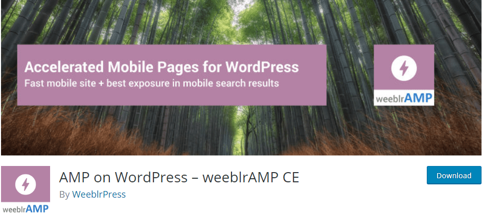 AMP on WordPress – weeblrAMP CE