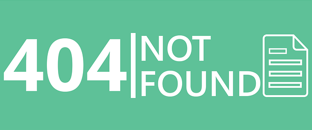 404 page not found and 404 error