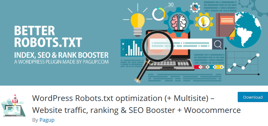 WordPress Robots.txt optimization (+ Multisite) – Website traffic, ranking & SEO Booster + Woocommerce