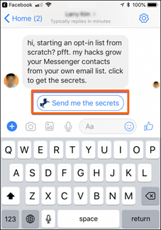 Facebook Chatbot Chat