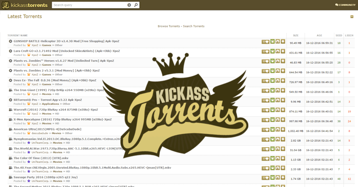 Kickass Torrents Proxies