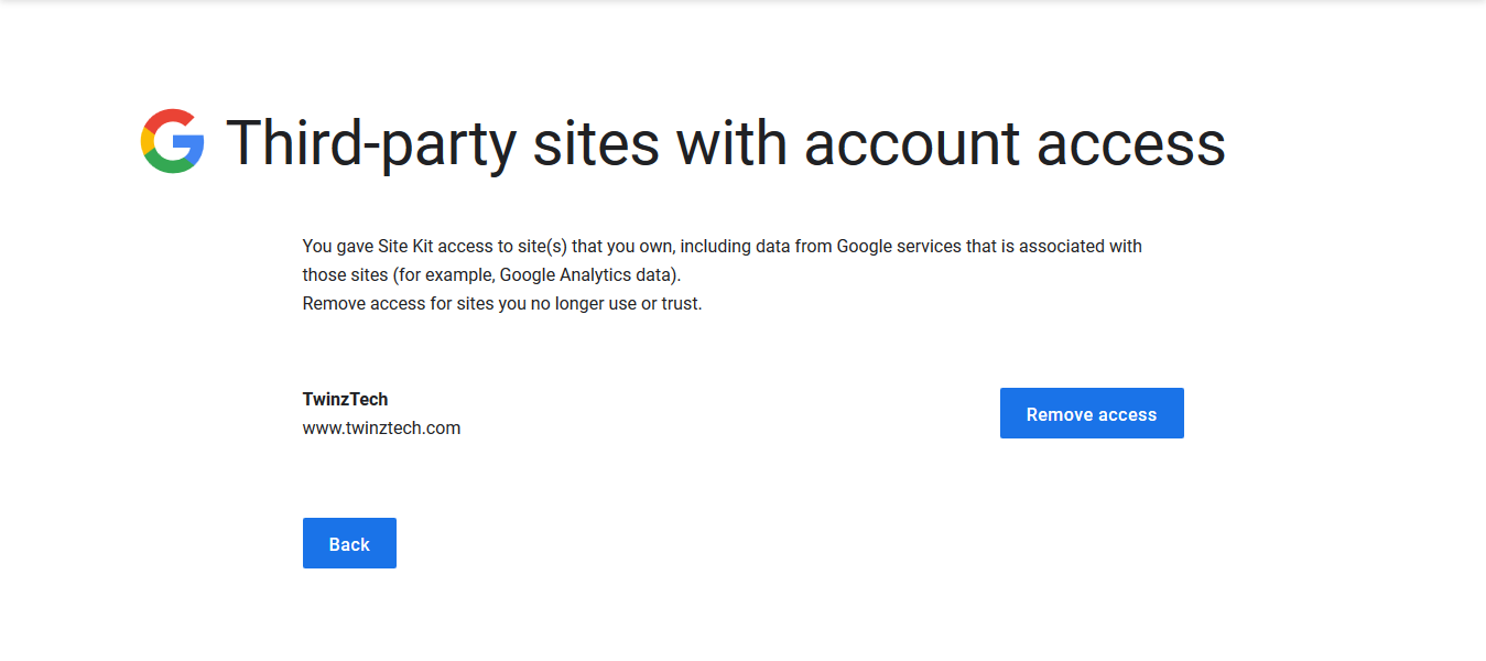 Permissions - Site Kit by Google