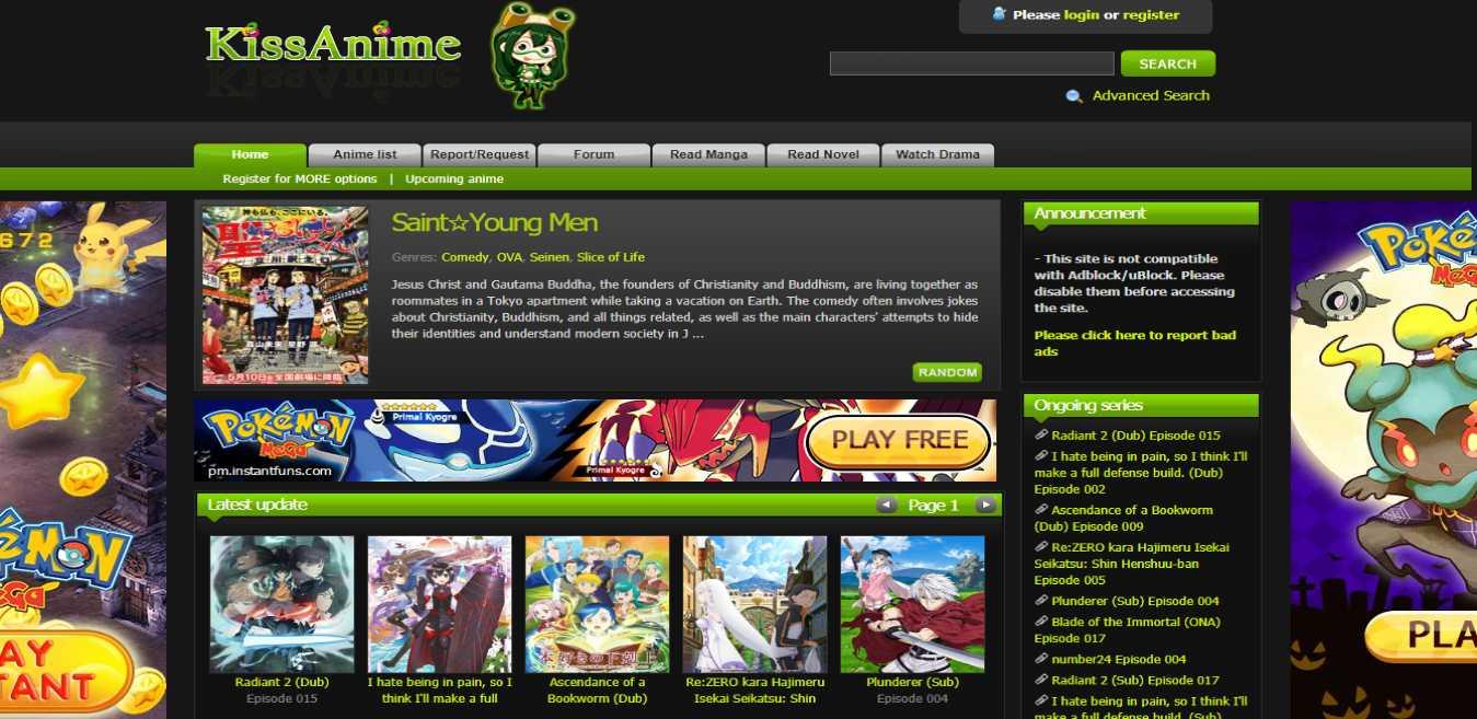 kissanime.ru best alternative of Anime Planet