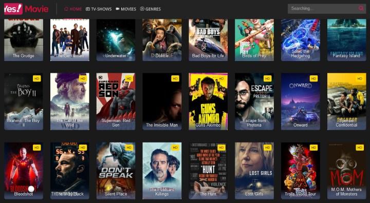 YesMovies & TV Shows Alternatives