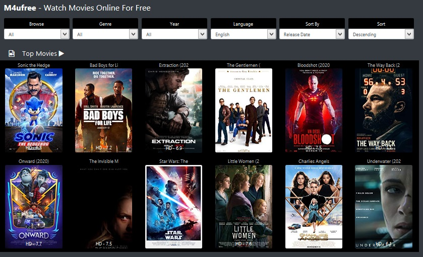 M4uFree Movies Websites