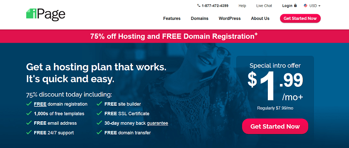 Build Your Website with a Free Domain Name iPage Web Hosting