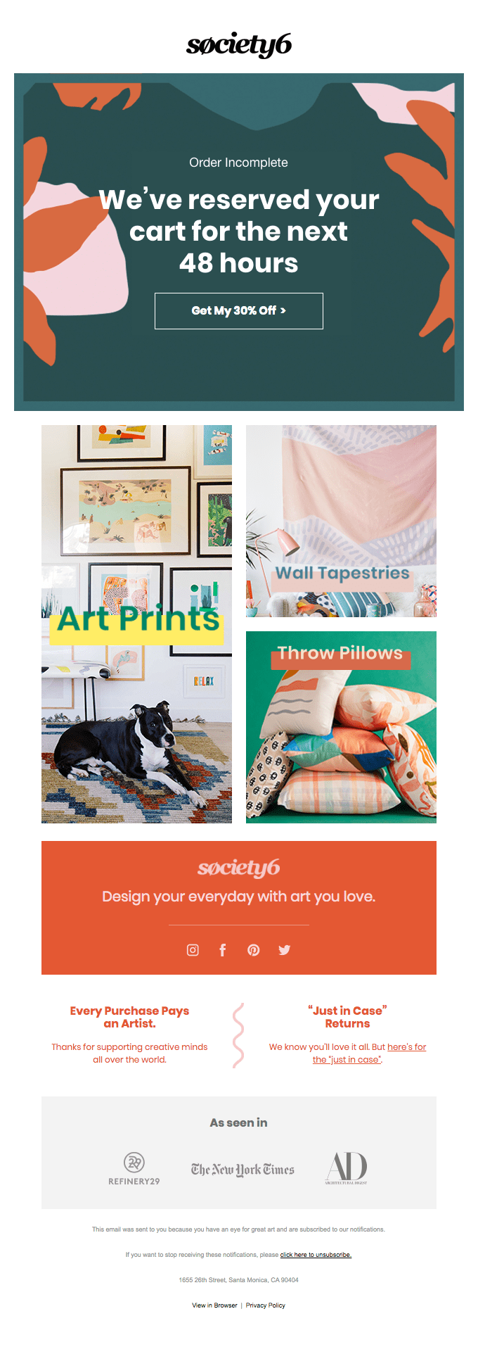 Society 6- Email Series