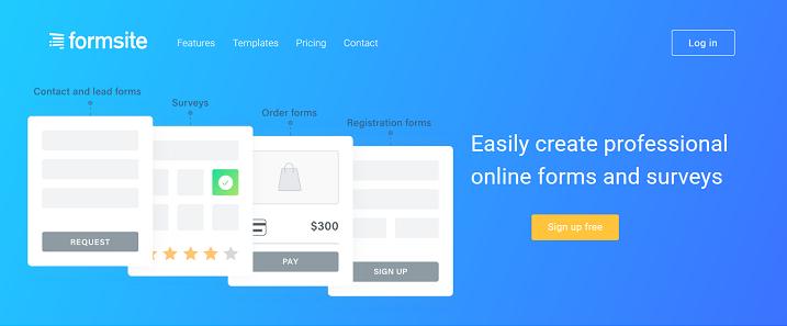 Formsite - Online Form Builder Create HTML Forms Surveys