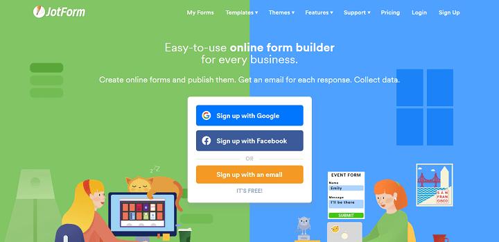 Free Online Form Builder Form Creator JotForm