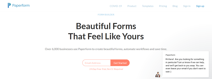 Paperform Online Form Builder And Form Creator