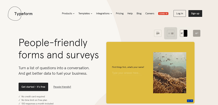 Typeform People-Friendly Forms and Surveys